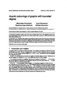 Acyclic colourings of graphs with bounded degree - Discrete