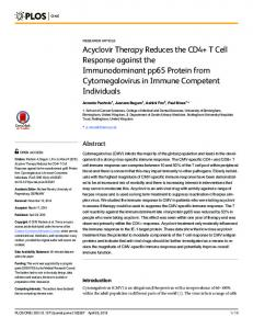 Acyclovir Therapy Reduces the CD4+ T Cell