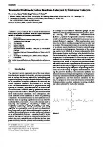 Acylation Reactions Catalyzed by