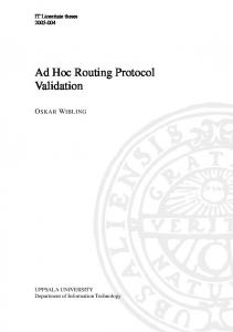 Ad Hoc Routing Protocol Validation - DiVA portal