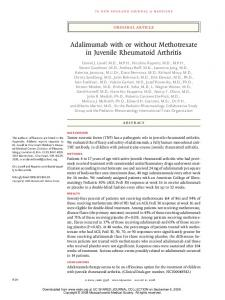 Adalimumab with or without Methotrexate in Juvenile ... - UCLA CTSI