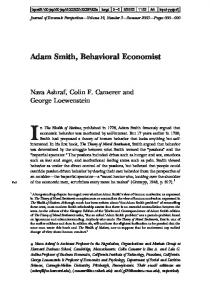 Adam Smith, Behavioral Economist - Division of the Humanities and ...