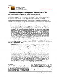 Adaptability and stability assessment of bean