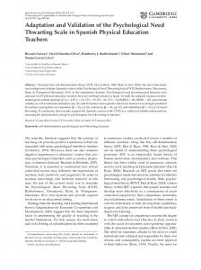 Adaptation and Validation of the Psychological