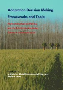 Adaptation Decision Making Frameworks and ... - (IGES) Publications
