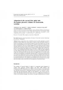 Adaptation in the asexual false spider mite Brevipalpus ... - Springer Link
