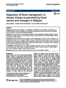 Adaptation of forest management to climate change as ... - Bosgroepen