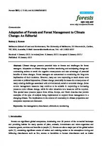 Adaptation of Forests and Forest Management to