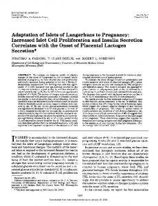Adaptation of Islets of Langerhans to Pregnancy ...
