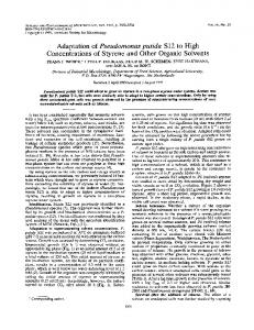 Adaptation of Pseudomonas putida S12 to High - Applied and ...