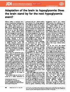 Adaptation of the brain to hypoglycemia - Wiley Online Library