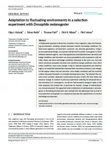 Adaptation to fluctuating environments in a ... - Wiley Online Library