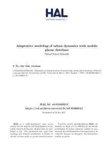 Adaptative modeling of urban dynamics with mobile phone ... - Hal