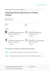 Adapting African Agriculture to Climate Change - kalro