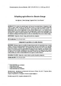 Adapting agriculture to climate change - Dialnet