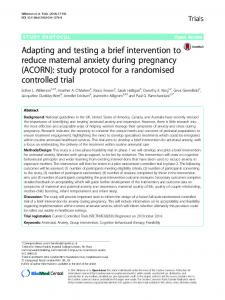 Adapting and testing a brief intervention to reduce ... - Springer Link