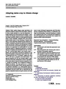 Adapting maize crop to climate change - Core