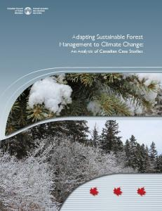 Adapting Sustainable Forest Management to Climate Change: