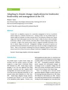 Adapting to climate change - Freshwater Biological Association