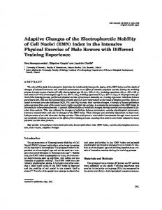 Adaptive Changes of the Electrophoretic Mobility ... - Semantic Scholar