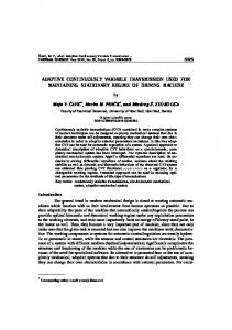 adaptive continuously variable transmission used ... - Thermal Science