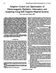 Adaptive control and optimization of electromagnetic radiation ...