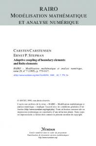 Adaptive coupling of boundary elements and finite elements