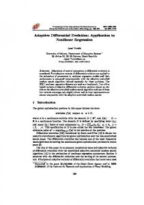 Adaptive Differential Evolution: Application to Nonlinear Regression