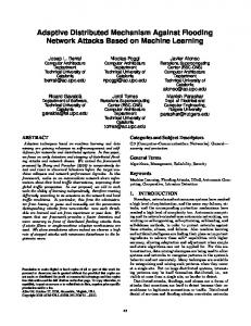 Adaptive Distributed Mechanism Against Flooding Network Attacks