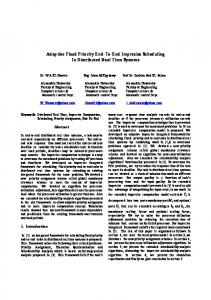 Adaptive Fixed Priority End-To-End Imprecise Scheduling In ... - arXiv