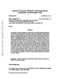 Adaptive Geometric Multiscale Approximations for Intrinsically Low ...