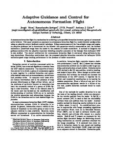 Adaptive Guidance and Control for Autonomous Formation Flight