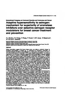 Adaptive hypersensitivity to estrogen: mechanism ... - Semantic Scholar
