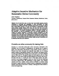 Adaptive Incentive Mechanism for Sustainable Online Community