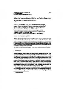 Adaptive Inverse Control Using an Online Learning Algorithm for ...