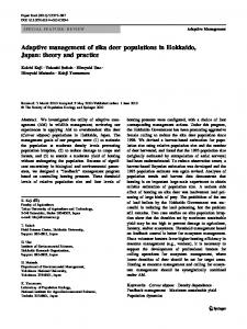 Adaptive management of sika deer populations in Hokkaido, Japan ...