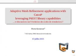 Adaptive Mesh Refinement applications with CanoP ...