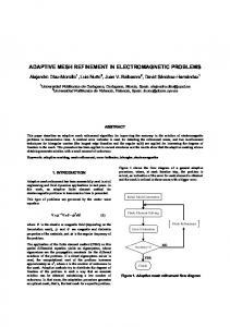adaptive mesh refinement in electromagnetic