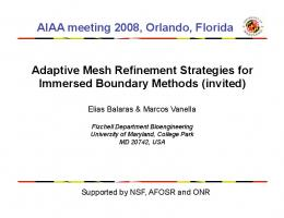 Adaptive mesh refinement strategies for immersed boundary methods