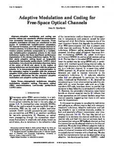 Adaptive Modulation and Coding for Free-Space ... - Optics InfoBase