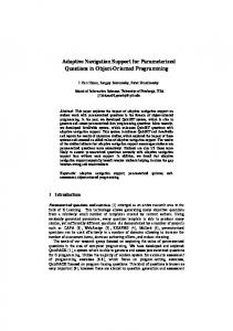 Adaptive Navigation Support for Parameterized ... - Semantic Scholar