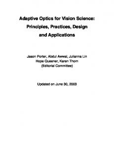 Adaptive Optics for Vision Science: Principles, Practices, Design and ...