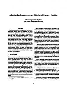 Adaptive Performance-Aware Distributed Memory ... - Semantic Scholar