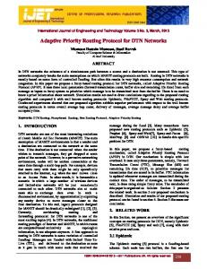 Adaptive Priority Routing Protocol for DTN Networks