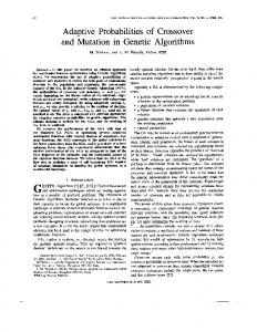 Adaptive probabilities of crossover and mutation in ... - Semantic Scholar