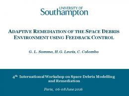 Adaptive Remediation of the Space Debris ...