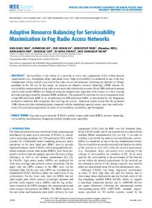 Adaptive Resource Balancing for Serviceability ... - IEEE Xplore