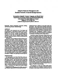 Adaptive Resource Management for Scalable ... - Semantic Scholar