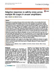 Adaptive responses to salinity stress across multiple life stages in ...