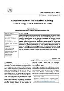Adaptive Reuse of the Industrial Building: A case of Energy Museum in Sanatistanbul, Turkey / journal of contemporary urban affairs (JCUA)